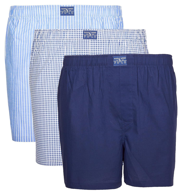 Marine Blau Polo Ralph Lauren Herren Boxershorts (erPack 3