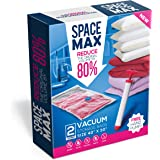 Premium Jumbo Vacuum Storage Space Saver Bags (Lifetime Replacement Guarantee) Free Hand Pump For Travel! 80% More Storage than Other Brands!