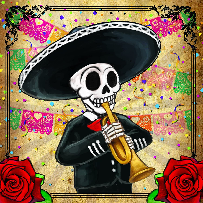 Amazon.com   Day of the Dead Mariachi Band Coasters Set of 4   Dia ...