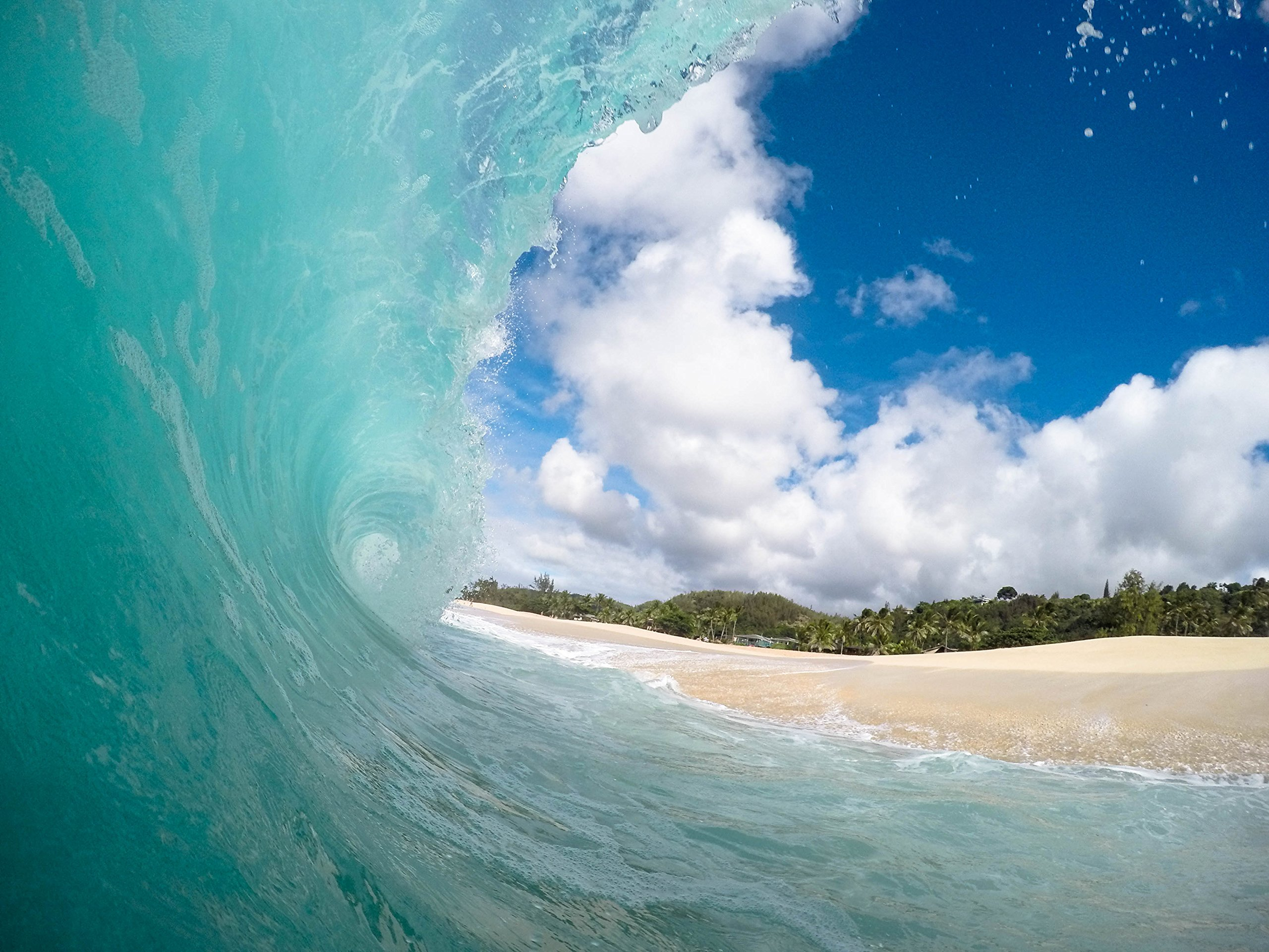 Ocean Wave And Beach by