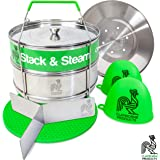 Instant Pot Accessories 6 qt 8qt Stainless Steel Steamer Stackable Insert Pans Vegetable Pressure Cooker Instapot Accessory Food, Insta, Basket, Holiday Gifts, Pasta, Ultra Egg Cheesecake, Quart