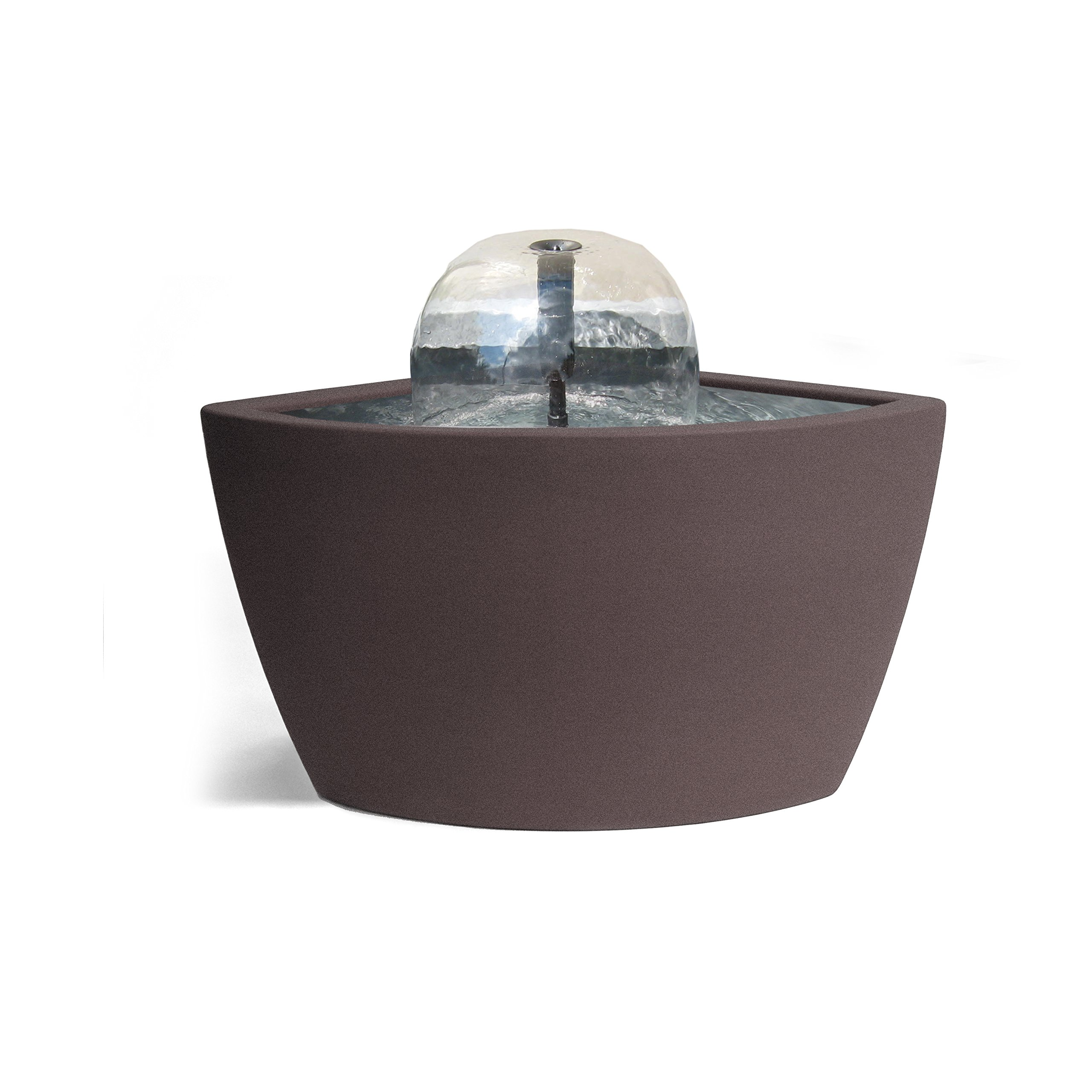 Algreen 36312 Hampton Corner Pond Kit Fountain with Light, Brownstone by Algreen