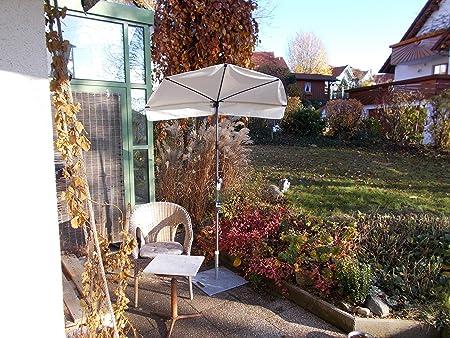 Holly Taupe(MAUSGRAUER) - Sombrilla para balcón pequeña, sombrilla ...