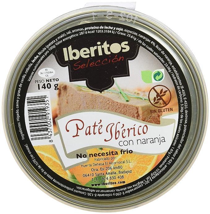 Iberitos - Paté Iberico con Naranja - 10 Latas x 140 gr: Amazon.es ...