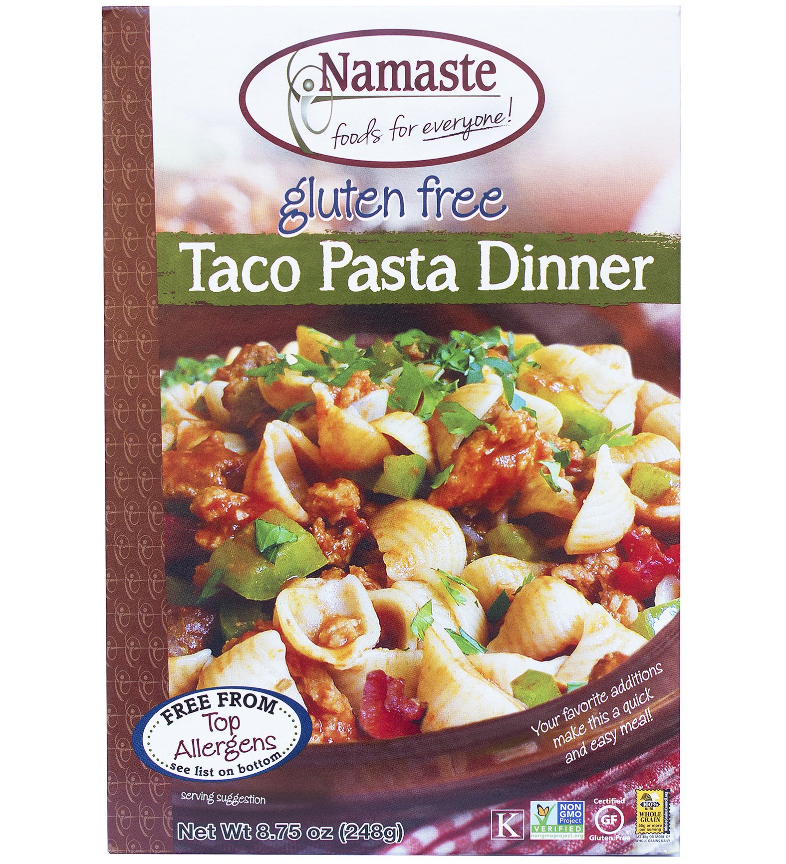 Namaste Foods, Gluten Free Taco Pasta Dinner 8.75-Ounce Boxes (Pack of 6)