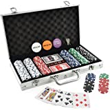 KOVOT 300 Chip Dice Style Poker Set In Aluminum Case (11.5 Gram Chips)