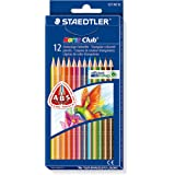 Staedtler - Noris Club 127 - Etui Carton 12 Crayons de Couleur Triangulaires Assortis
