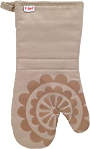 T-fal Textiles 50959 Medallion Design 100-Percent Cotton and Silicone Oven Thumb Mitt, Sand, Individual