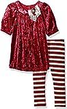 Bonnie Jean Toddler Girls' Crushed Velvet Dress and Legging Set