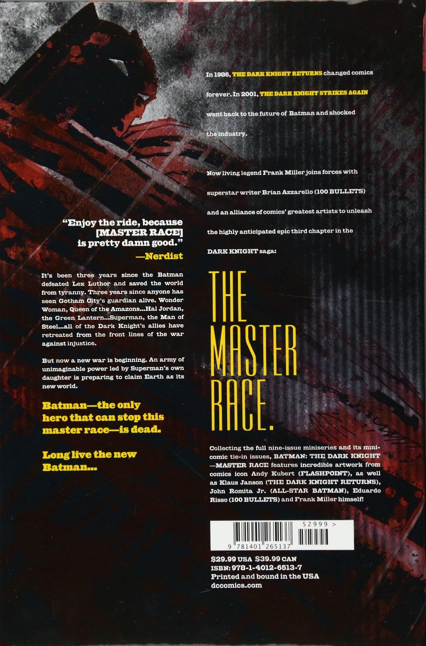 a70825440ccad Batman: Dark Knight III: The Master Race: Amazon.co.uk: Frank Miller ...