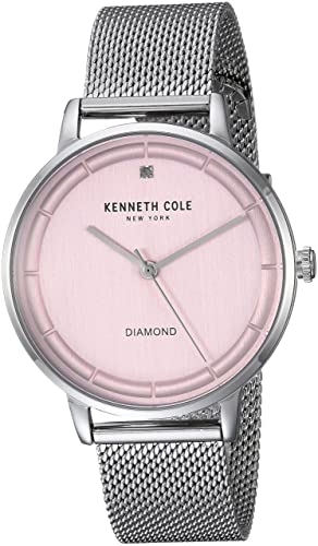 Amazon.com: Kenneth Cole New York Womens Quartz Stainless Steel and Leather Casual Watch, Color:Brown (Model: KC50010001): Watches