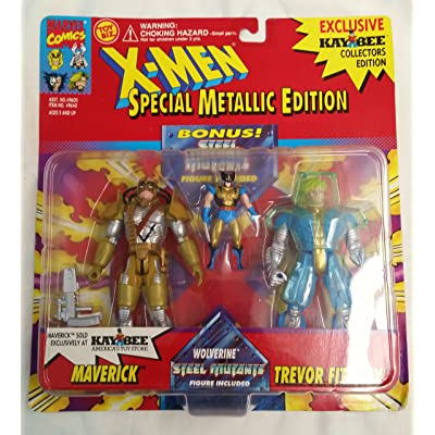 X-Men: Special Metallic Edition: Maverick, Wolverine and Trevor Fitzroy Poseable Action Figures: Toys & Games