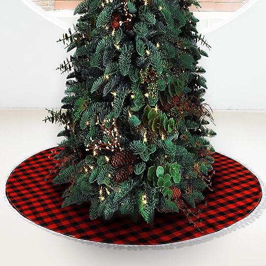 BELLE VOUS Falda Arbol de Navidad - Adornos Arbol Falda Grande ...