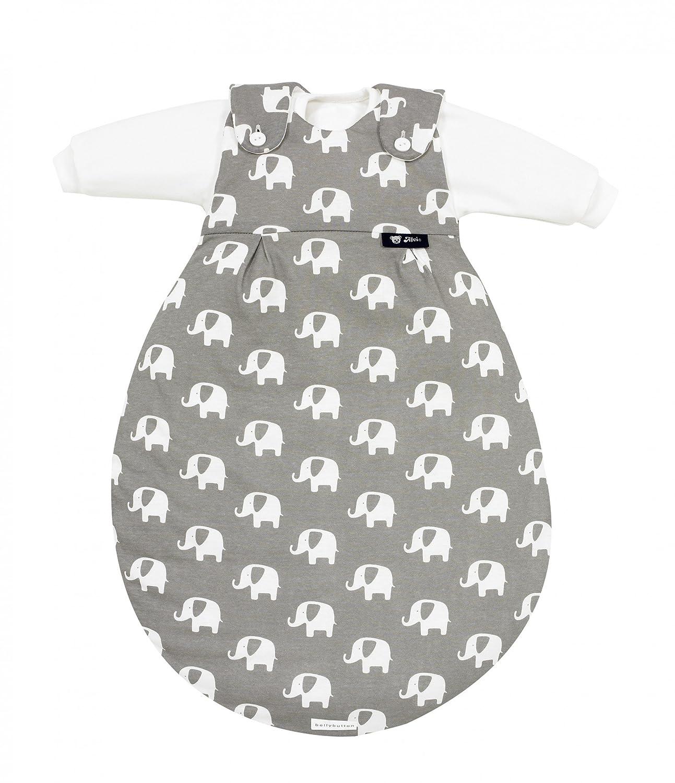 Alvi Baby-Mäxchen 3tlg. Special Edition - Elephants grau, Größe 80 86