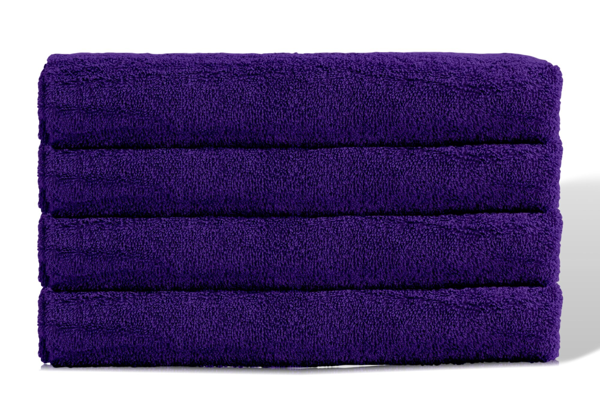 Puffy Cotton Large Bath Towel - 4 Pack Set - Oversize Bath Sheet (Hotel, Spa, Bath) Super Soft and Observant (Purple)