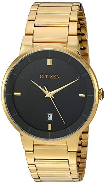 Citizen Men's Goldtone Black Dial Watch by Citizen