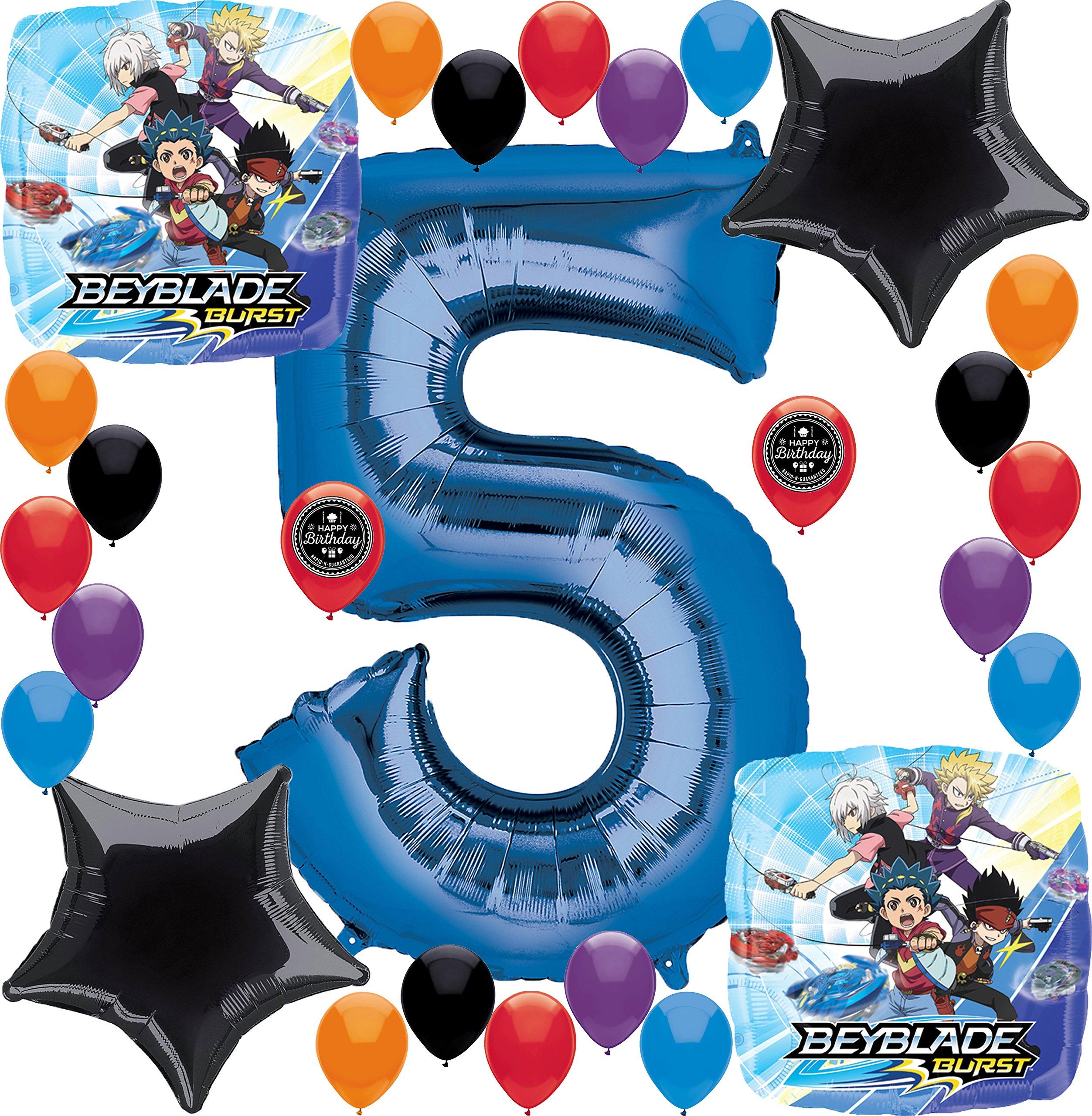 Combined Brands Beyblade Burst Party Supplies Birthday Balloon Decorations Bu...