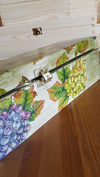 Exclusivo de Madera Caja de vino, vino soporte de madera ...