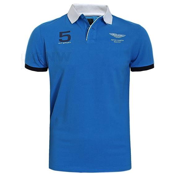 0d7dc74874e Hackett Aston Martin Racing Men's Polo T-Shirt Detail Arm & Collar: Amazon.co.uk:  Clothing