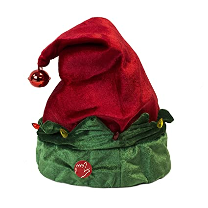 927bf990a0252 Amazon.com  LightUp Musical Animated Elf Hat  Home   Kitchen