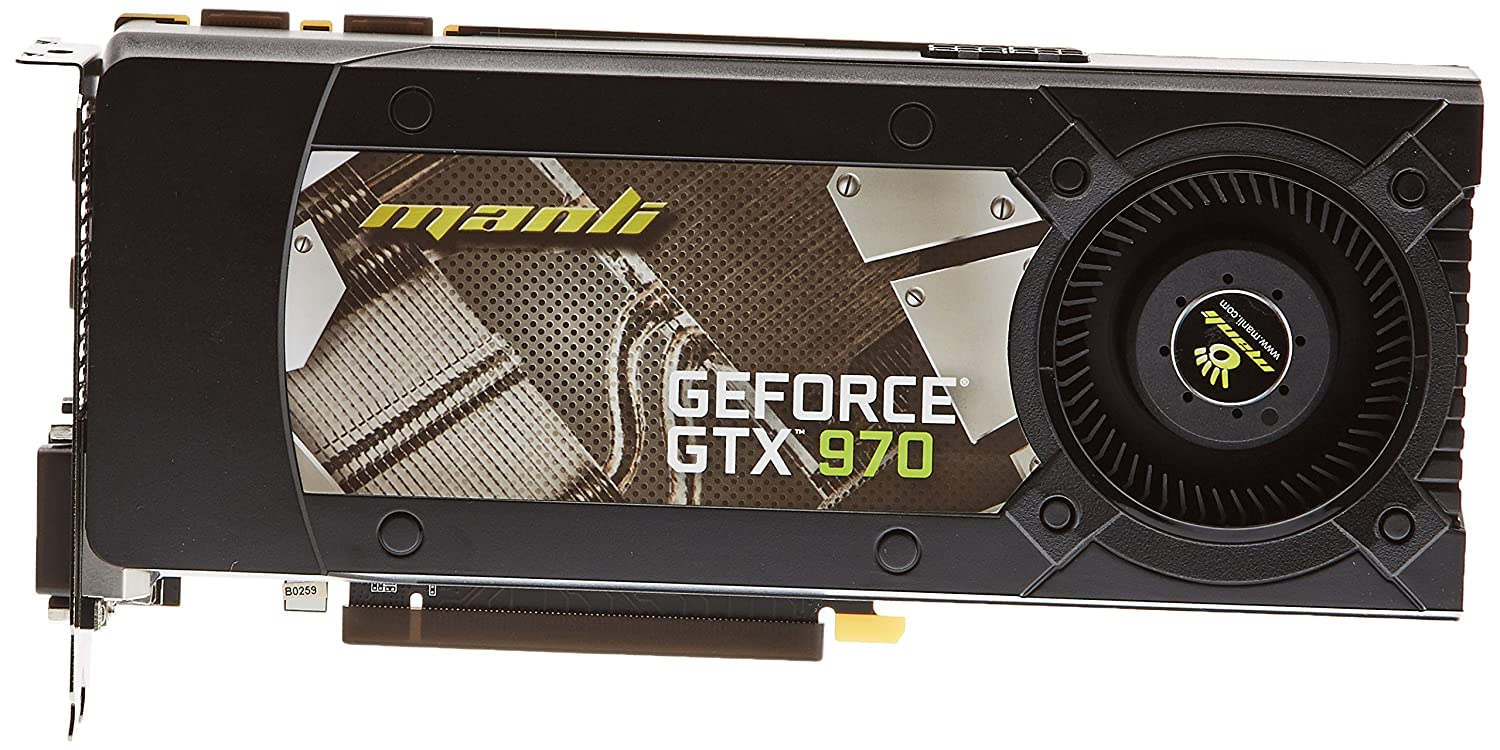 Manli VGA GeForce GTX970 Tarjeta de Video 4 GB, Negro: Amazon.es ...