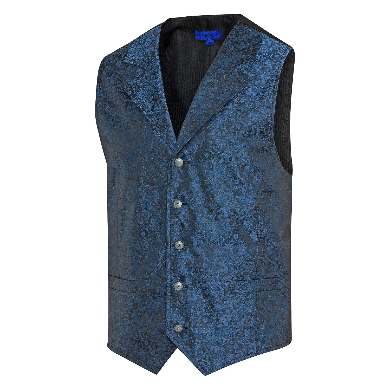 Westernwear-Shop Stars & Stripes Old Style Westernweste Royal Flush Blau Edition Gratis Bolotie & Aufbewahrungsbeutel Vintage Oldstyle Weste Westernkleidung Westernbekleidung Blau