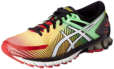 top fashion 2d42b c1b63 ASICS Men s Gel-Kinsei 6 True Red, Silver and Black Running Shoes - 11