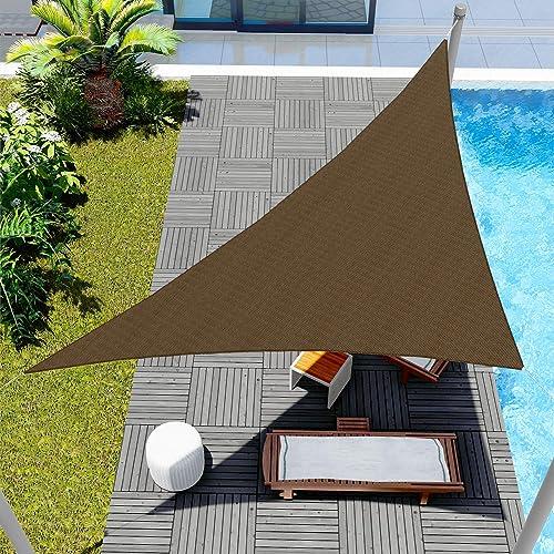 Windscreen4less 10' x 10' x 14.1' Sunshade Sail Triangle Canopy