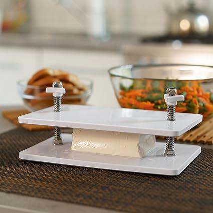 Tofu Press Kit – Escurridor de queso de 4 prendas firme Tofu – quitar rápidamente el exceso de agua y mejorar los platos Tofu