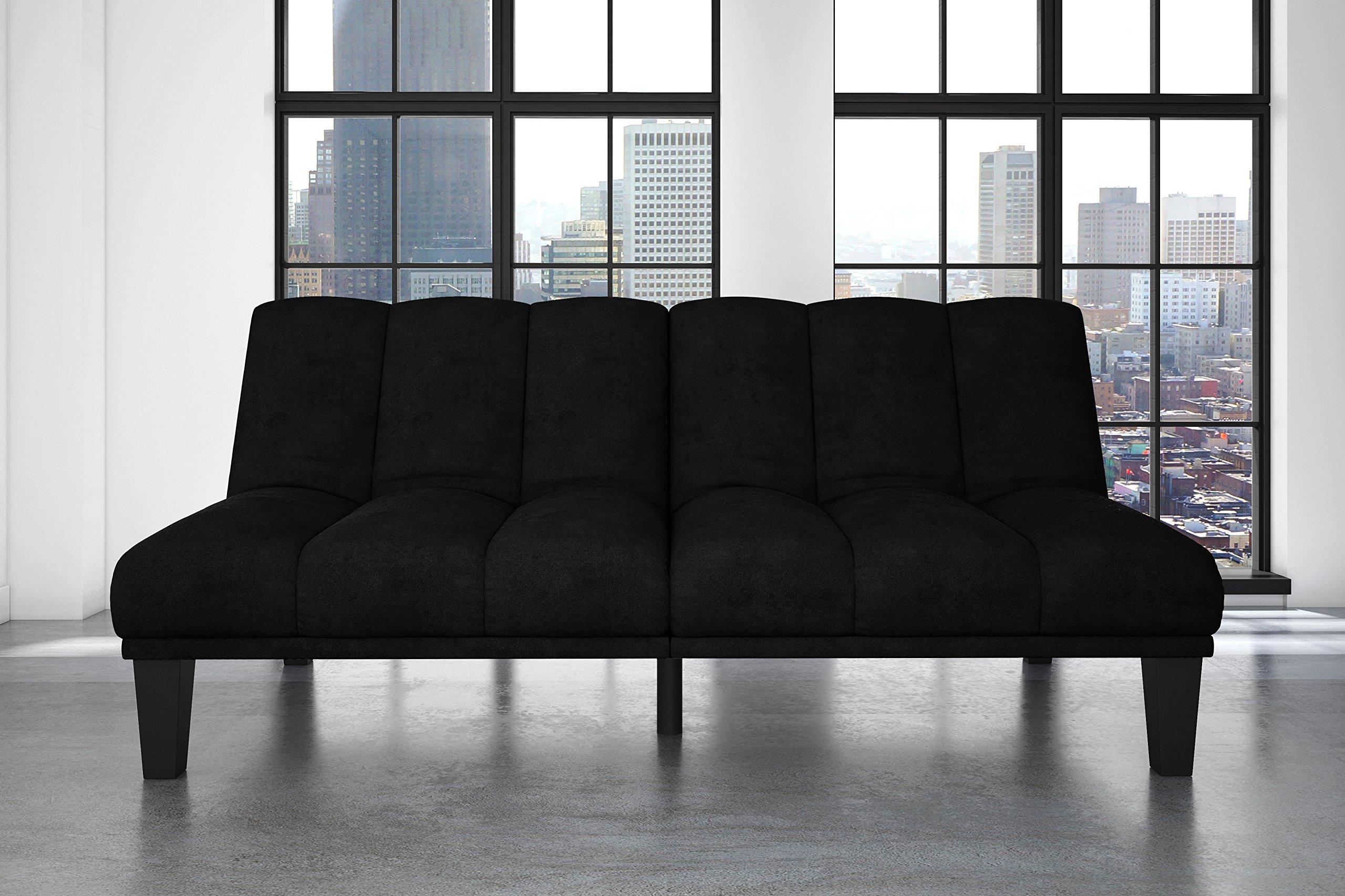 Hamilton Estate Premium Sofa Futon Sleeper Comfortable Plush Upholstery, Rich Black by DHP (Image #3)