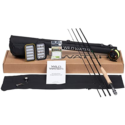 c44461a67 Amazon.com  Wild Water Fly Fishing Rod and Reel Combo 4 Piece Fly ...