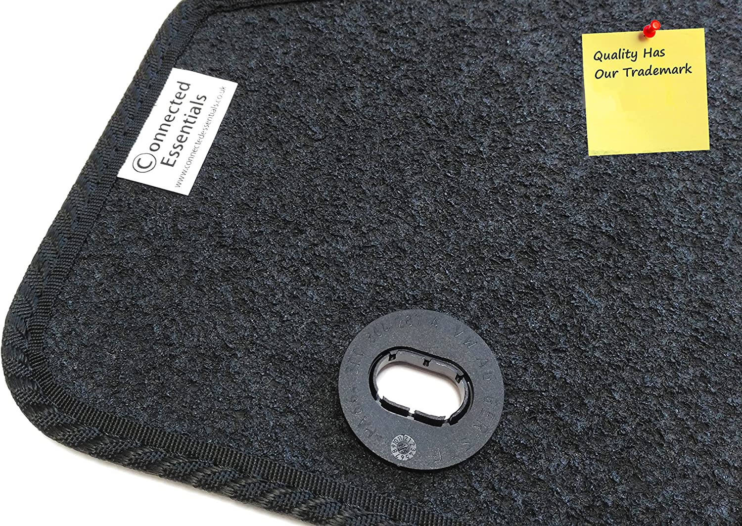 Connected Essentials CEM650 Grey with Red Trim Tailored Heavy Duty Custom Fit Car Mats Kia Soul 2008-2011