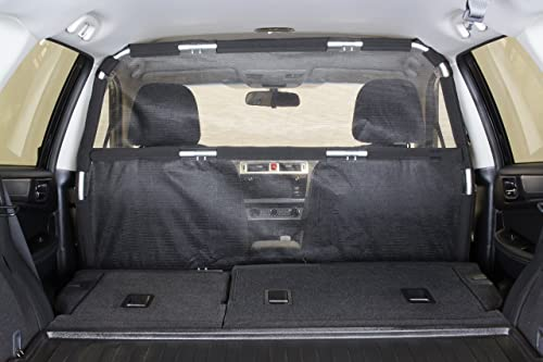 Bushwhacker – Deluxe Dog Barrier 50 Wide – Ideal for Smaller Cars, Trucks, and SUV s CUV s – Pet Restraint Car Backseat Divider Vehicle Gate Cargo Area Travel Trunk Mesh Net Screen Barricade