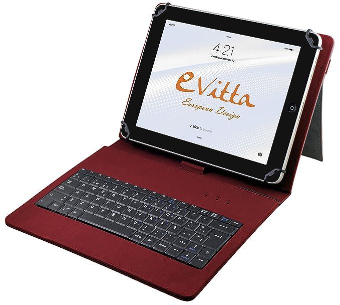 "E-Vitta Keytab - Funda con Teclado para Tablet de 10.1"", USB,"