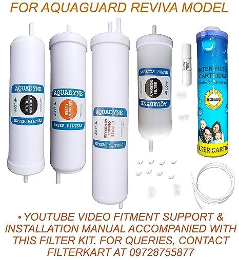 eec79b25fea Aquadyne Inline Filter Kit for Aquaguard Reviva (White)  Amazon.in  Home    Kitchen