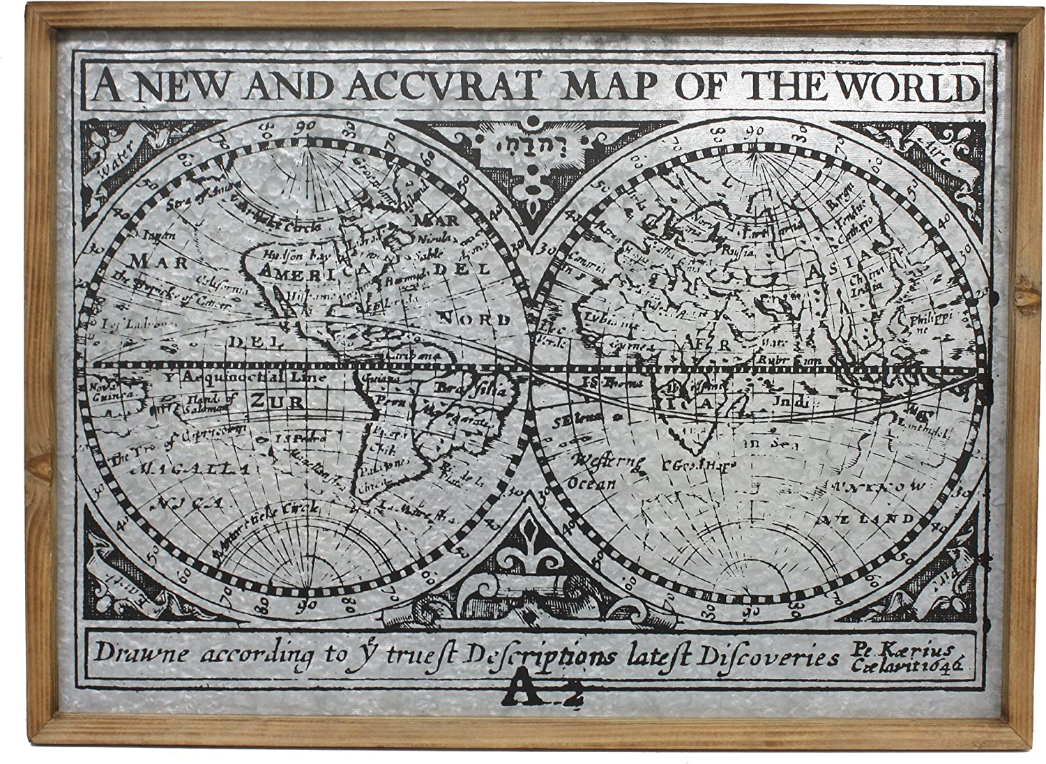 Fetco Home Décor Voyage A New Map of The World Wall Art, 30