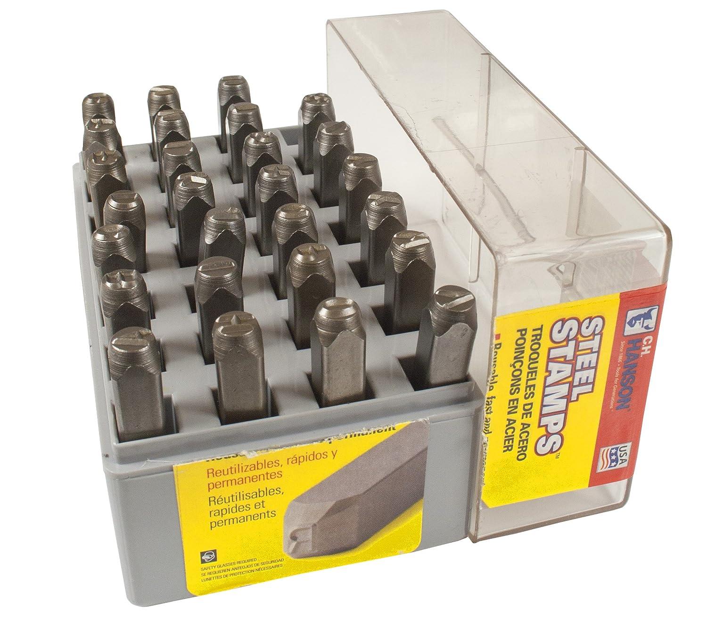 CH Hanson 20400 1//2 in Standard Steel Letter Stamp Set