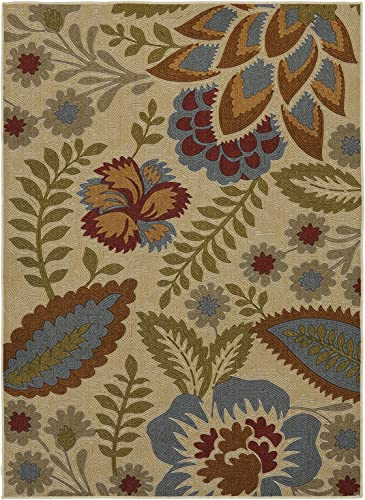 Mohawk Home Soho Crewel Floral Spice Printed Area Rug