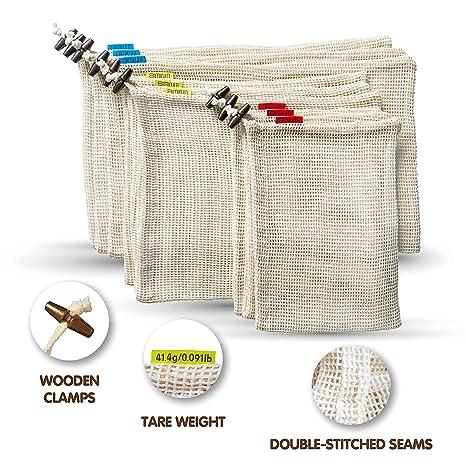 Amazon.com: SIMINITI - Bolsas reutilizables de malla para ...