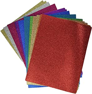 Darice GX-1700-25 8.5 x 11 Card stock Glitter silk Assortment, Multicolor