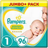 Pampers - New Baby - Couches Taille 1 (2-5 kg) - Jumbo+ Pack (x96 couches)