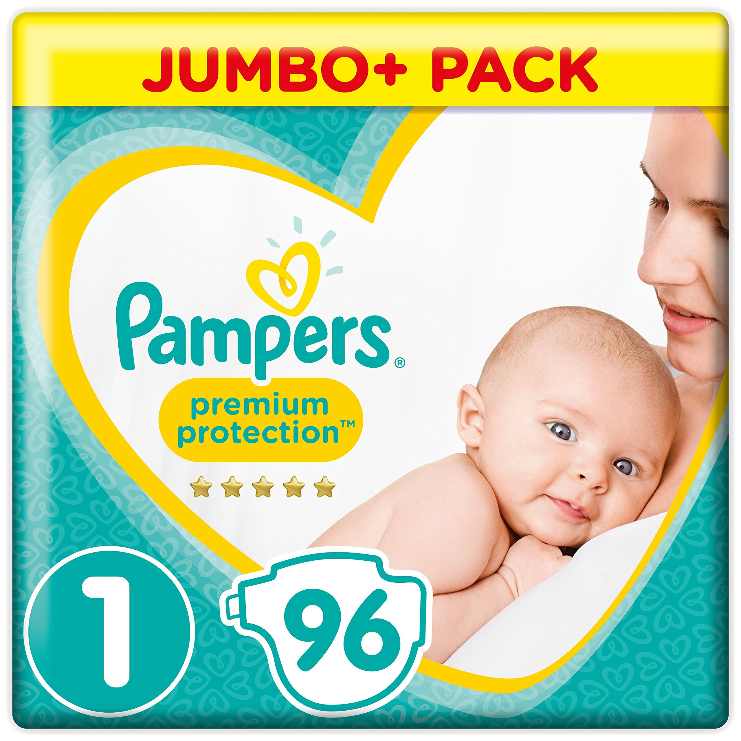 Pampers New Baby – Pañales, talla 1, 2 a 5 kg, pack de