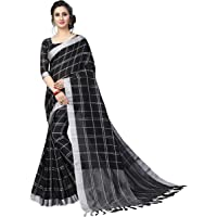 Perfectblue Women's Linen Saree With Blouse Piece (LinenMaxVariation)