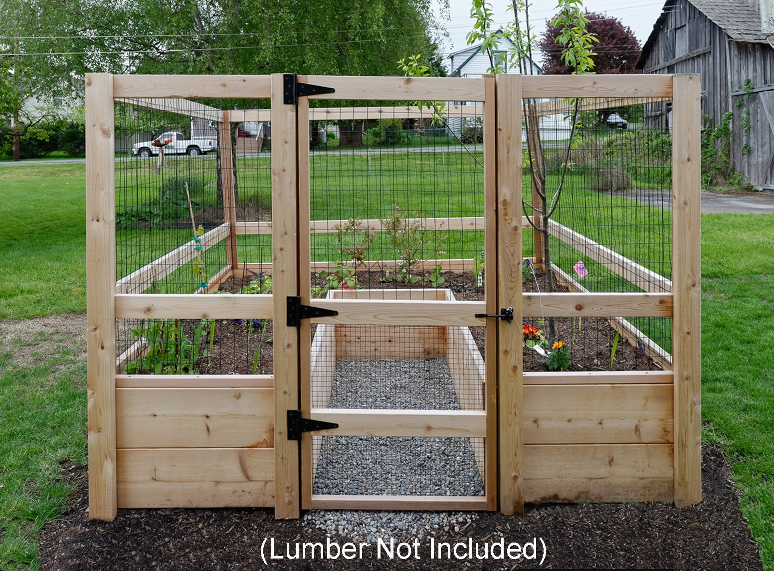 Deer-proof Just Add Lumber Vegetable Garden Kit - 8'x8' by Gardens To Gro