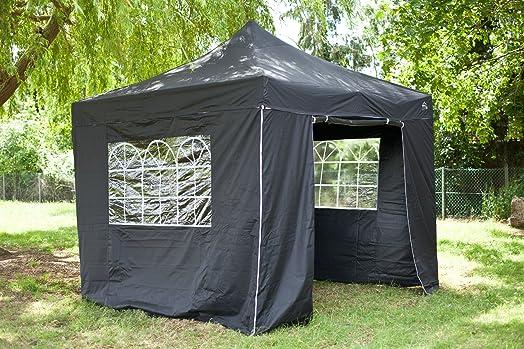 All Seasons Gazebos 3x3m Black Heavy Duty Fully Waterproof PVC Coated