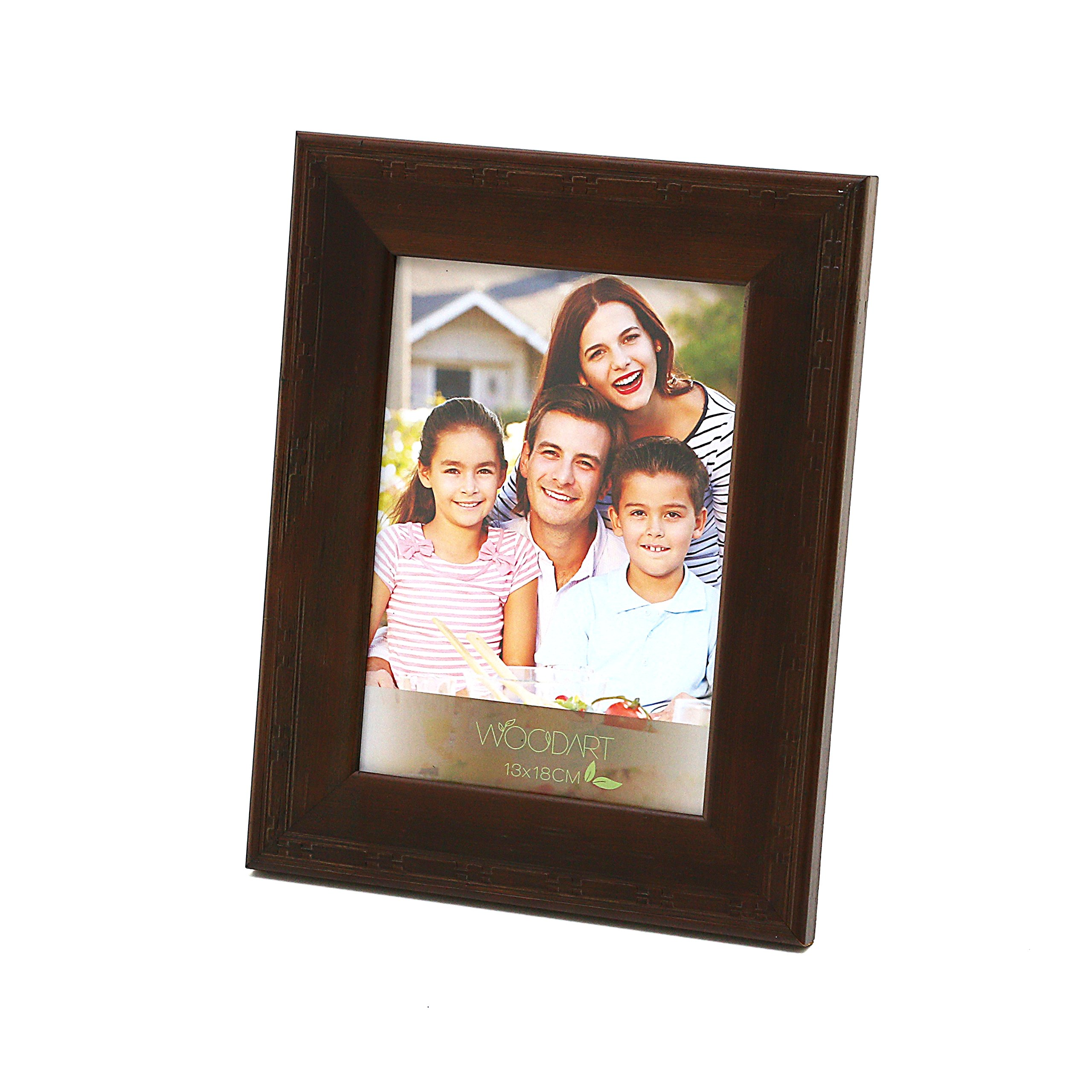 WoodArt Wooden Picture Frame (5x7'', Dark Wood)