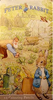 peter rabbit colouring pencil tin