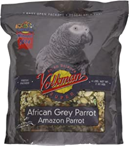 Volkman Avian Science Super African Grey Bird Food