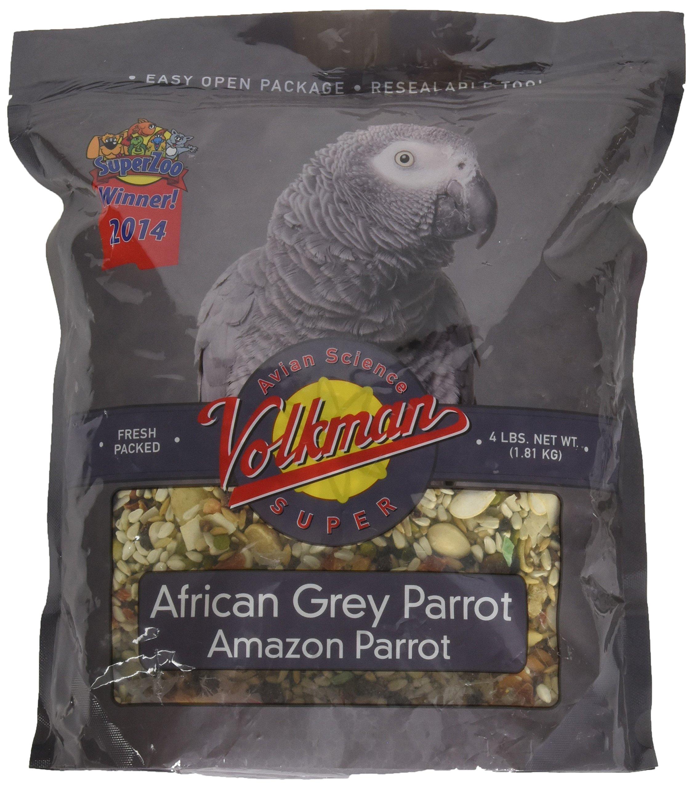 Volkman Avian Science Super African Grey Bird Food 4 lb by Volkman