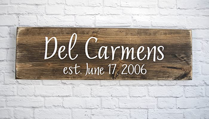 family name sign wedding gifts wall art rustic home decor custom wooden signs - Custom Signs For Home Decor
